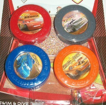 Disney Pixar Cars Set of 4 Swim & Dive Discs - 1