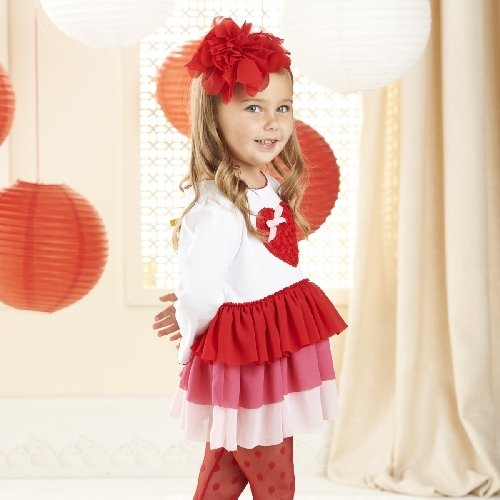 Mud Pie Girls Valentine Heart Dress