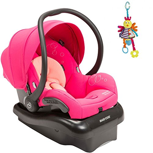 Maxi Cosi Mico Ap Infant Car Seat In Passionate Pink W Jangly Birdie front-1007801