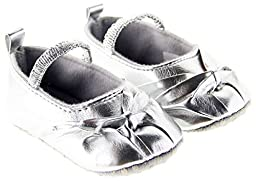 Baby Girl Silver Kont Leather Sandals Size 2 Us