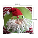 Christmas Santa Claus Cotton Pillow Cushion Cover for Sofa or Bed (Santa)