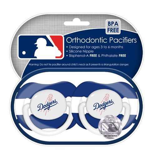 Mlb Los Angeles Dodgers Pacifiers, 2-Pack