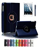Apple iPad 2/3/4 Case, CINEYO(TM) 360 Degree Rotating Stand Case Cover with Auto Sleep / Wake Feature for iPad 2/3/4(10 Colors)this case is for Apple iPad 2 3 4 (Dark Blue)