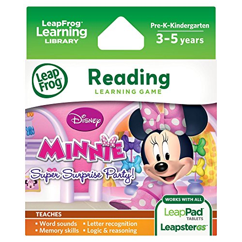 LeapFrog Disney Minnie's Bow-tique Super Surprise Party Learning Game (Works with LeapPad Tablets, and Leapster Explorer)
