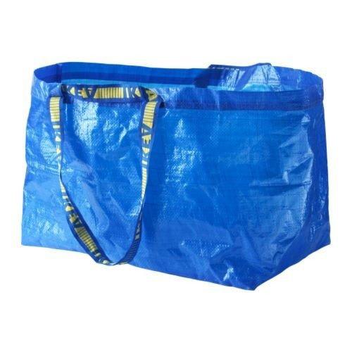 IKEA-Einkaufstasche-Frakta-DIE-blaue-Tasche-mit-71-Litern-Inhalt-und-25kg-Tragkraft