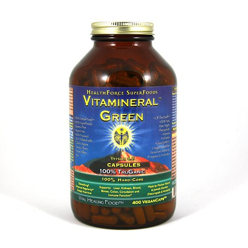 Vitamineral Green, Vital Healing SuperFood 400 Vegan Caps
