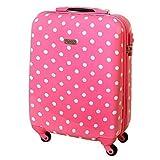Hardcase Suitcase TSA Ryanair Carry On Luggage Bordcase 30 Liter Pink