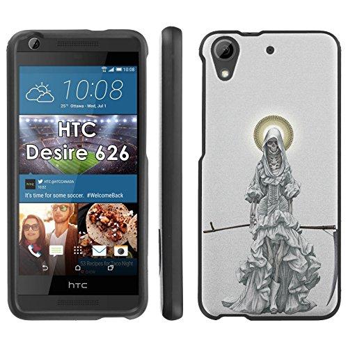 Santa Muerte – Mobiflare HTC 626 626s Slim Guard Armor Black Phone Case