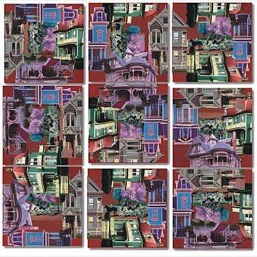 Cheap Fun B Dazzle Victorian Homes Scramble Squares 9 Piece Puzzle (B000BWZRB4)