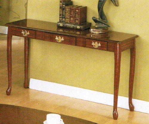 Cheap Console Sofa Table with Storage Drawers – Cherry finish (VF_F3061)