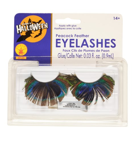 Rubies Peacock Feather Eyelashes front-1055809
