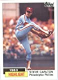 1984 Topps # 1 Steve Carlton Philadelphia Phillies Baseball Card