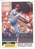 1984 Topps # 1 Steve Carlton Philadelphia Phillies Baseball Card