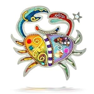 Seeka Sensitive Cancer the Crab Zodiac Pin from The Artazia Collection P0904