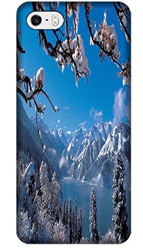 Phones Accessories Beautiful White Snow Tree Vellege Design Cases For Iphone 5/5S # 5