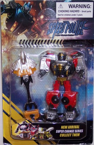 Speed Police Hell Skeeter Super Change Series Transformer- Transform From a Robot to a Car and Back - 1