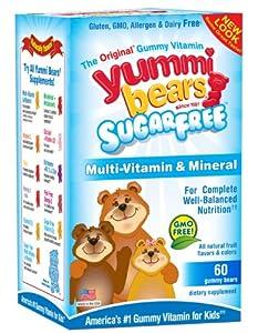 Yummi Bears Multivitamin and Mineral, Sugar Free, 60 Count