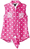 One Step Up Girls 7-16 Sleeveless Tie Front Shirt