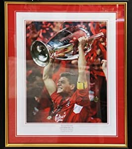 Steven Gerrard Hand Signed Framed Liverpool FC Framed Champion of Europe + COA from MemorabiliaOutlet