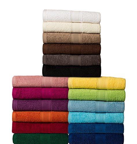 Set di 6 asciugamani per gli ospiti (30x50 cm) - 100% Cotone - Qualità 500 g/m² - Tutte le dimensioni e i colori - nero