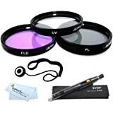 40.5mm Filter Kit For Nikon 1 J1, Nikon 1 V1, Nikon 1 J2, Nikon 1 J4, Nikon 1 S2 Mirrorless Digital Camera (That Use 10-30mm, 30-110mm, 10mm Lenses) Includes 40.5mm 3PC Filter Kit (UV, CPL, FLD)+ More