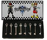 Kingdom Hearts II 8 KEYBLADE PENDANT SET Sora Necklace