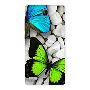 Delighted Premier Butterflies Multicolor Back Case Cover for Redmi Note