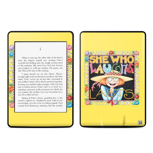 She Who Laughs Design Protective Decal Skin Sticker For Amazon Kindle Paperwhite Ebook Reader (2-Point Multi-Touch) front-599351