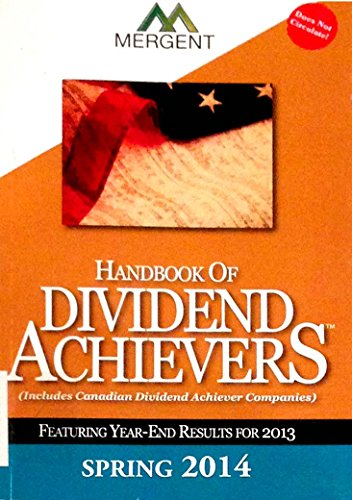Handbook of Dividend Achievers Spring 2014 PDF