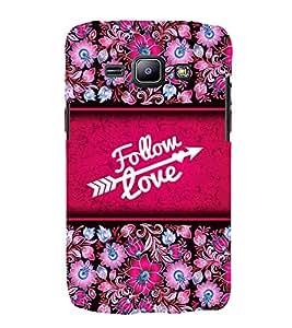 Follow Love Cute Fashion 3D Hard Polycarbonate Designer Back Case Cover for Samsung Galaxy J1 (2015) :: Samsung Galaxy J1 4G :: Samsung Galaxy J1 4G Duos :: Samsung Galaxy J1 J100F J100FN J100H J100H/DD J100H/DS J100M J100MU