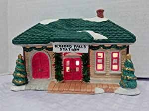 "A Wonderful Holiday Christmas Village ""It's a Wonderful Life"" The Bedford Falls Train Station"
