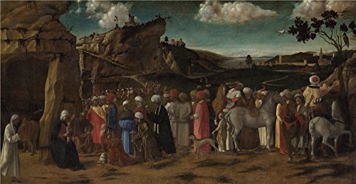 'the Workshop Of Giovanni Bellini The Adoration Of The Kings ' Oil Painting, 16 X 31 Inch / 41 X 79 Cm ,printed On Perfect Effect Canvas ,this Best Price Art Decorative Canvas Prints Is Perfectly Suitalbe For Study Decor And Home Artwork And Gifts (Used Mud Tires For 16 Inch Wheels compare prices)