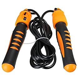 Plastic Jump Rope Exercise Counter Gym Fitness Skip Antiskid Rope Skipping