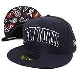 (ニューエラ)New Era ベースボールキャップ BBキャップ ニューヨーク ペイズリー アンダーバイザー 紺 70320178 ネイビー 7-1/2(59.6cm) 59FIFTY NEW YORK ARCH UNDER VISOR PAISLEY