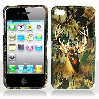 Apple Iphone 4 Deer Hunter Hard Case Snap on Cover Protector Sleeve + LCD Screen Guard Film w/Cleaning Cloth + Free Biodegradable Screen wipe