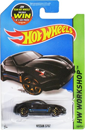 Hot Wheels, 2015 HW Workshop, Nissan 370Z [Black] Die-Cast Vehicle #248/250
