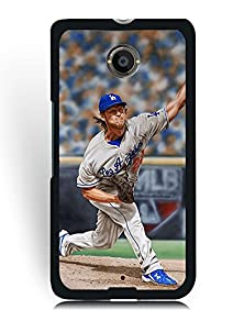 buy Google Nexus 6 Case Mlb Team Player, Clayton Kershaw Luxury Design Case Cover Skin For Men