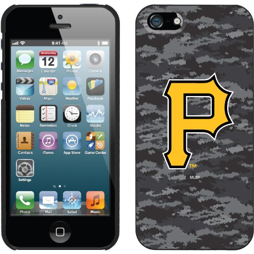 Best Price Pittsburgh Pirates - Digi Camo Color design on a Black iPhone 5s / 5 Thinshield Snap-On Case by Coveroo