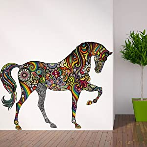 amazon com my wonderful walls beautiful horse decal mountain morning 211 wall mural wallpaper for walls