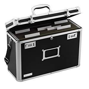 Amazoncom vaultz locking personal file tote for legal for Lock box with slot for documents