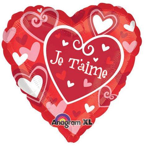 """18"""" Je T'aime Hearts"""