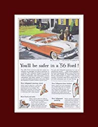 1955 Ford Victoria Coupe Red / White V8 Vintage Ad