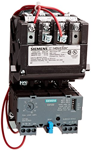 Siemens 14due32ac heavy duty motor starter solid state for Sizing motor starters and overloads