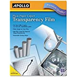Plain Paper Transparency Film For Laser Devices, Removable Stripe, Clear, 100/BX, Sold As 2 Box, 100 Sheet Per...