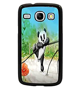 PrintDhaba Cute Panda D-2811 Back Case Cover for SAMSUNG GALAXY CORE i8262 (Multi-Coloured)