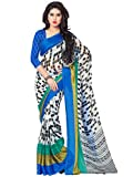 LOVELY LOOK White & Multi Printed Saree