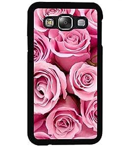 ColourCraft Beautiful Roses Design Back Case Cover for SAMSUNG GALAXY E5