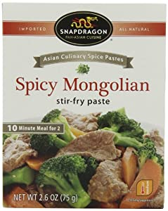 Snapdragon Stir-Fry Paste, Spicy Mongolian, 2.6-Ounce (Pack of 6) by Snapdragon Foods