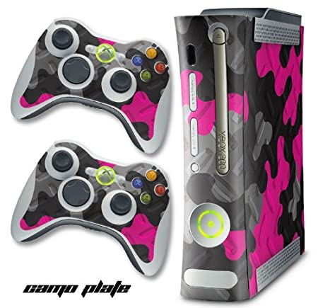 XBOX 360 Console Pink Camo Design Decal Skin - System & Remote Controllers - CamoPlate - Pink