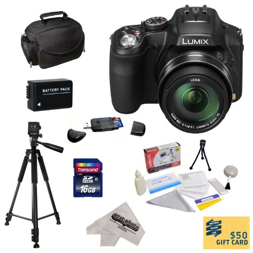 =>>  Panasonic Lumix DMC-FZ200 Digital Camera with 3-Inch LCD With Best Value Accessory Kit Includes 16GB High-Speed SDHC Card + Card Reader + Extra Battery + Deluxe Carrying Case + Professional 60